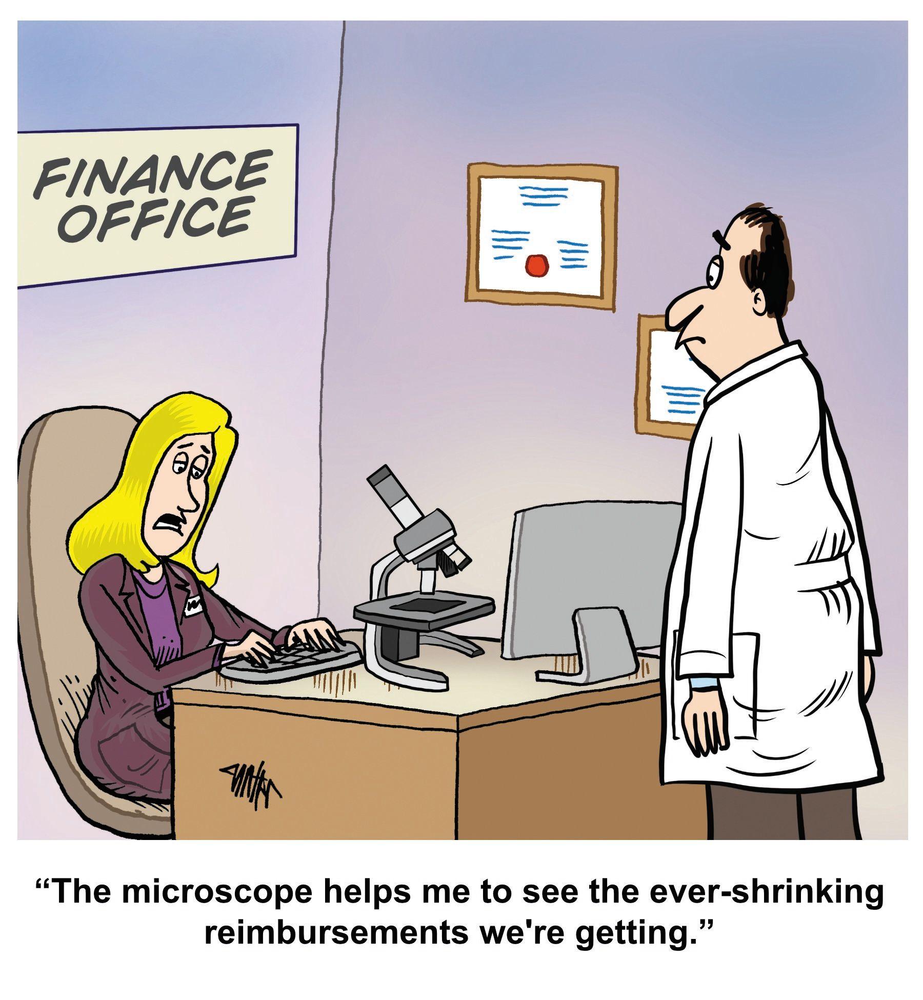 Medical Economics Cartoon: When reimbursements shrink