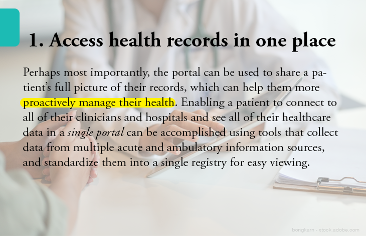 1. Access health records in one place
