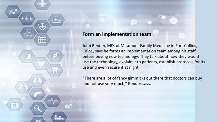 Form an implementation team