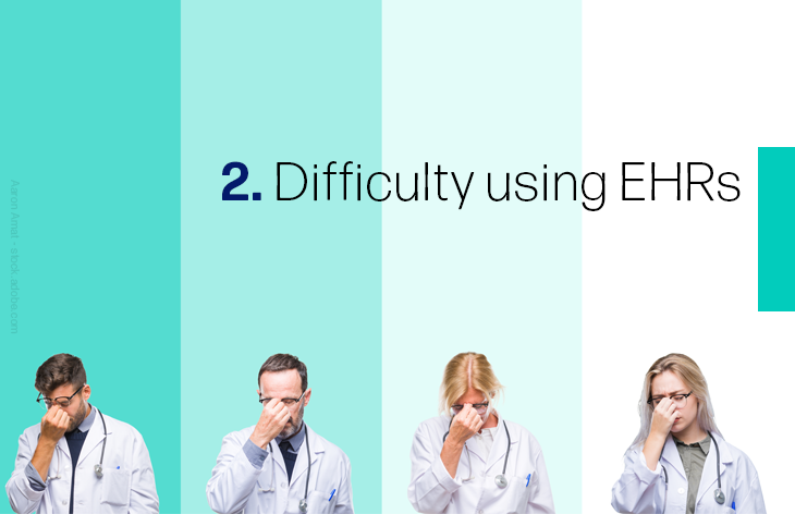 2. Difficulty using EHRs