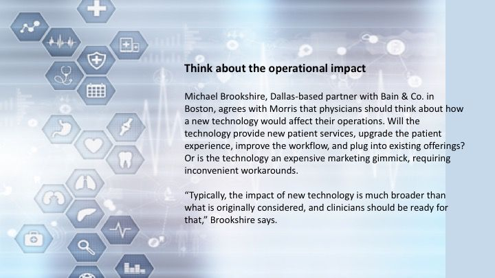 Think about the operational impact