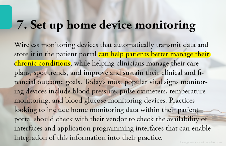 7. Set up home device monitoring