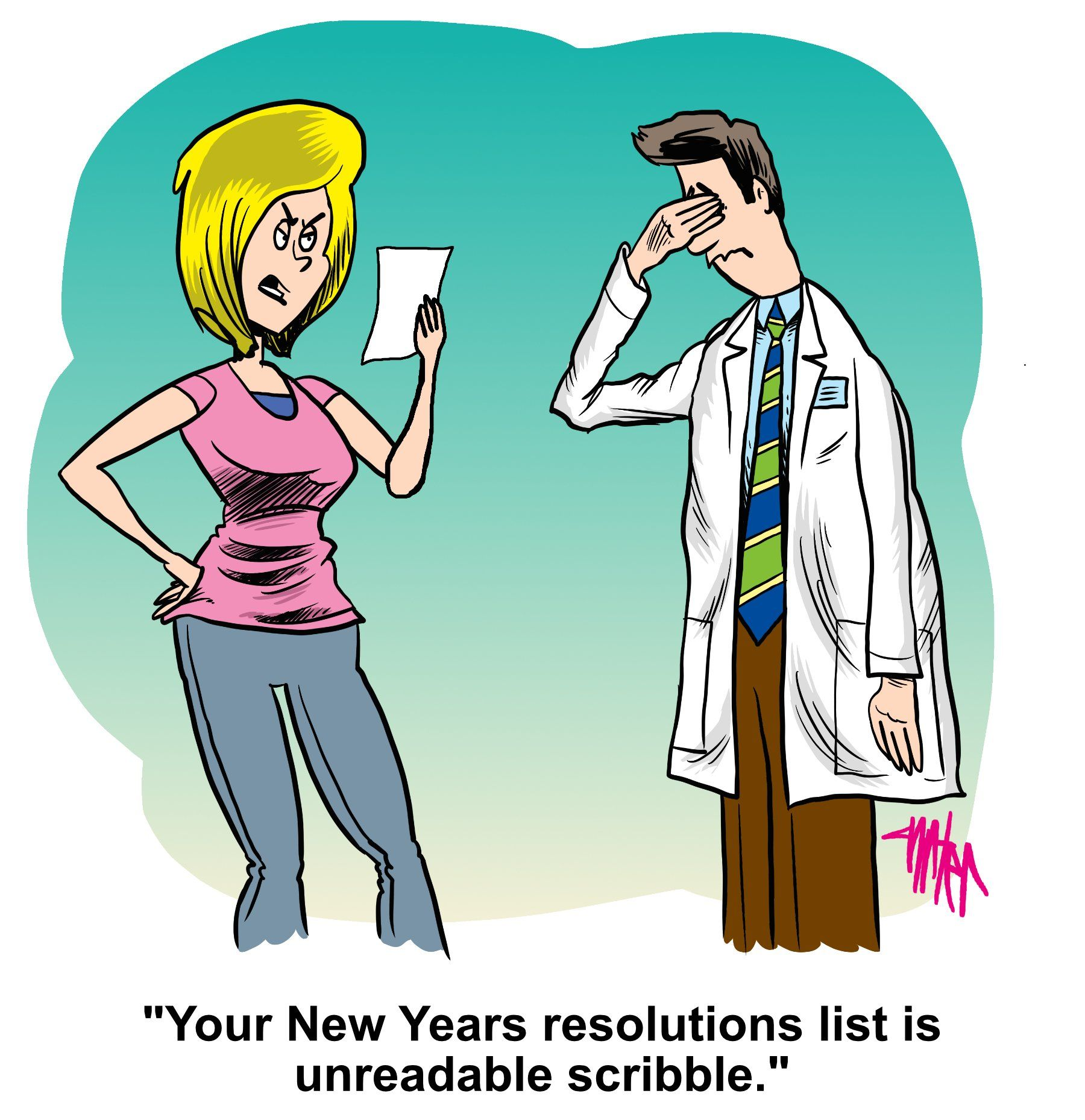 Medical Economics comic: What's your resolution?