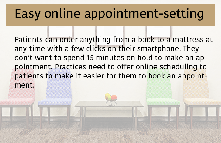 1 Easy online appointment setting