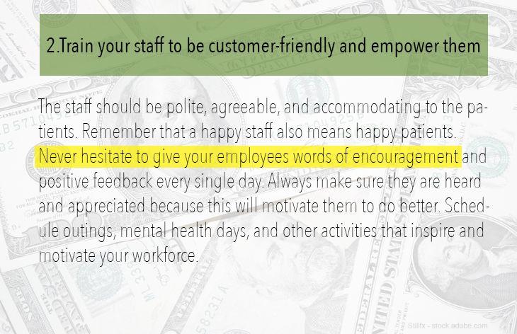 2. Train your staff to be customer-friendly and empower them