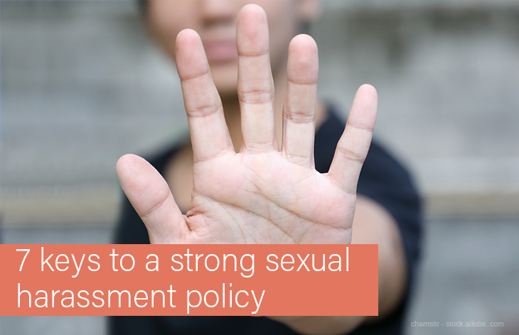 7 steps to a strong harassment policy