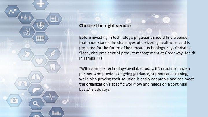 Choose the right vendor