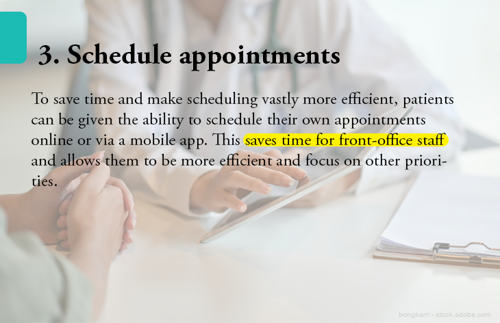 3. Schedule appointments