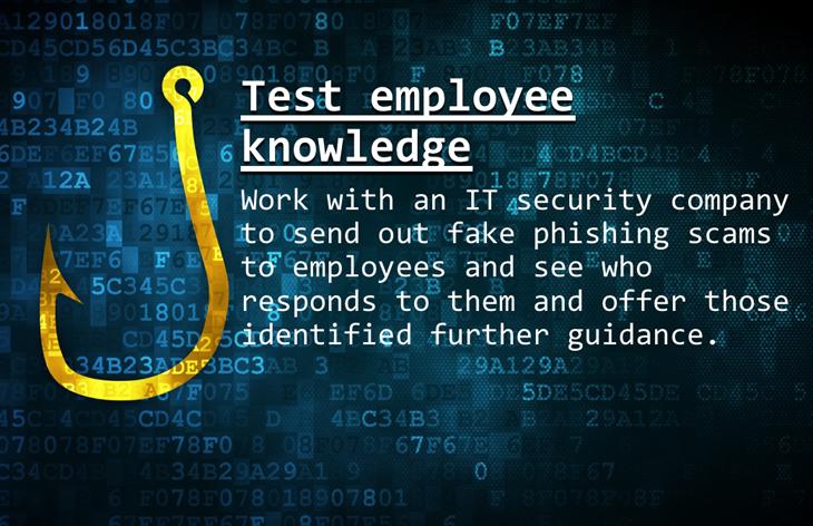 Test employee knowledge