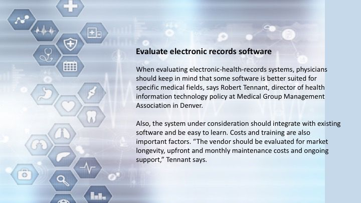 Evaluate electronic records software