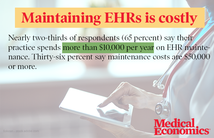 Maintaining EHRs is costly
