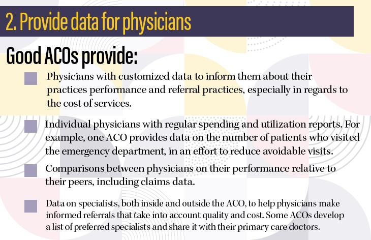 2. Provide data for physicians