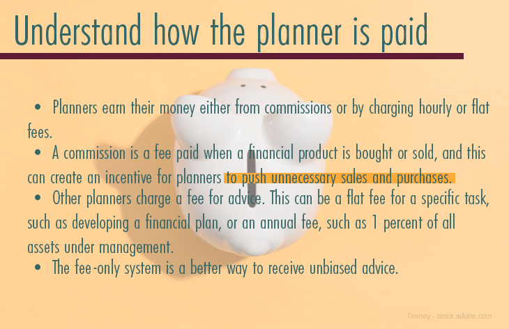 Understand how the planner is paid