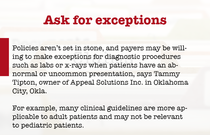 Ask for exceptions