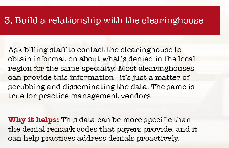 Build relationship with clearing house