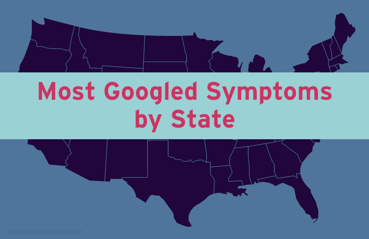 Most googled symptoms by state