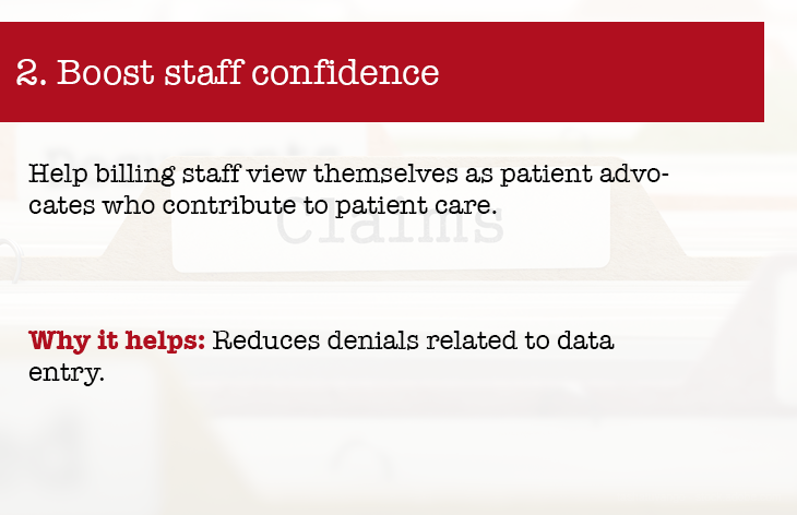 Boost staff confidence