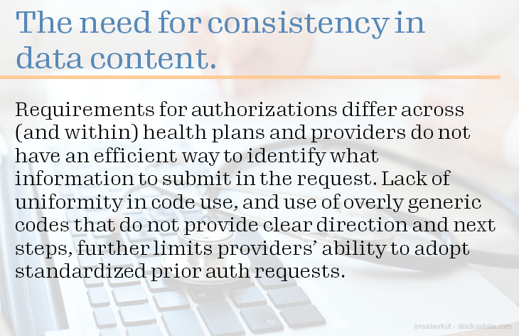 The need for consistency in data content.