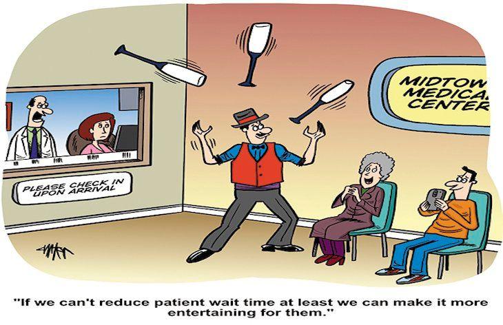 Entertaining patient wait times