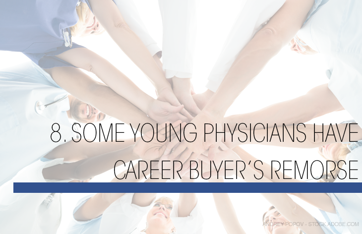 Some physicians have career remorse