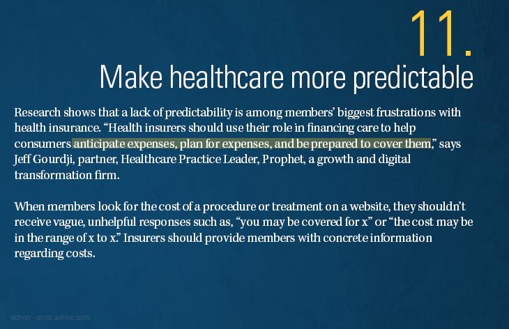 Make the healthcare system more predictable