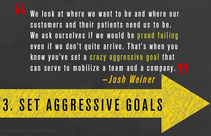 Set aggressive goals