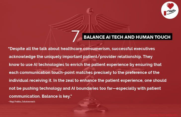 7. Balance AI tech and human touch