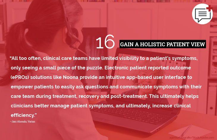 16. Gain a holistic patient view