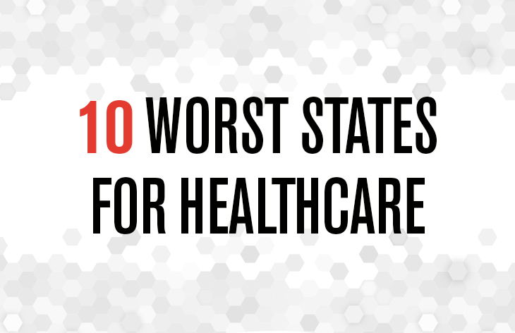 10 worst states for healthcare