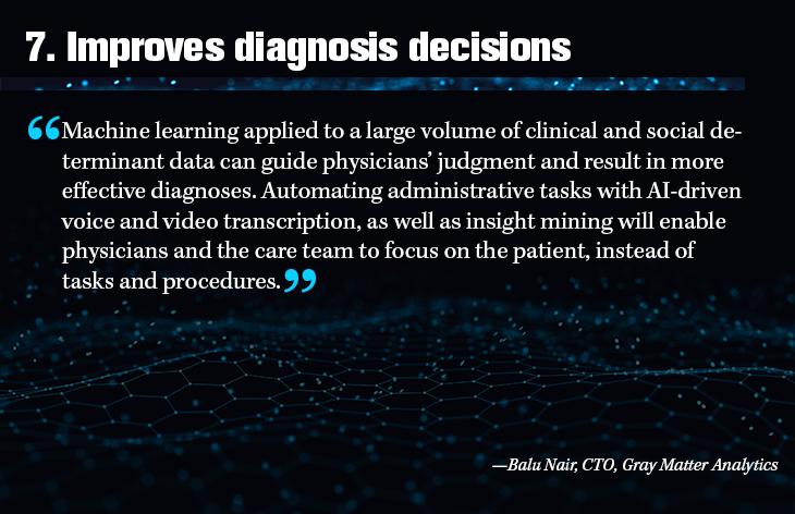 7. Improves diagnosis decisions