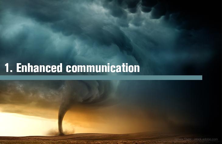 1. Enhanced communication