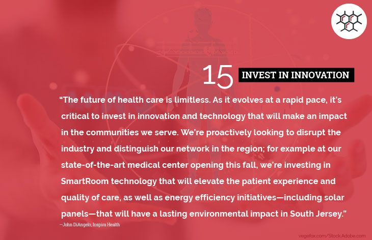 15. Invest in innovation