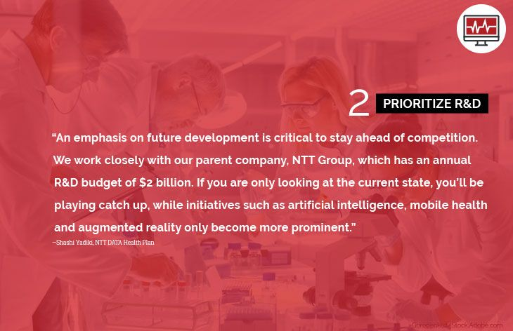2. Prioritize R&D