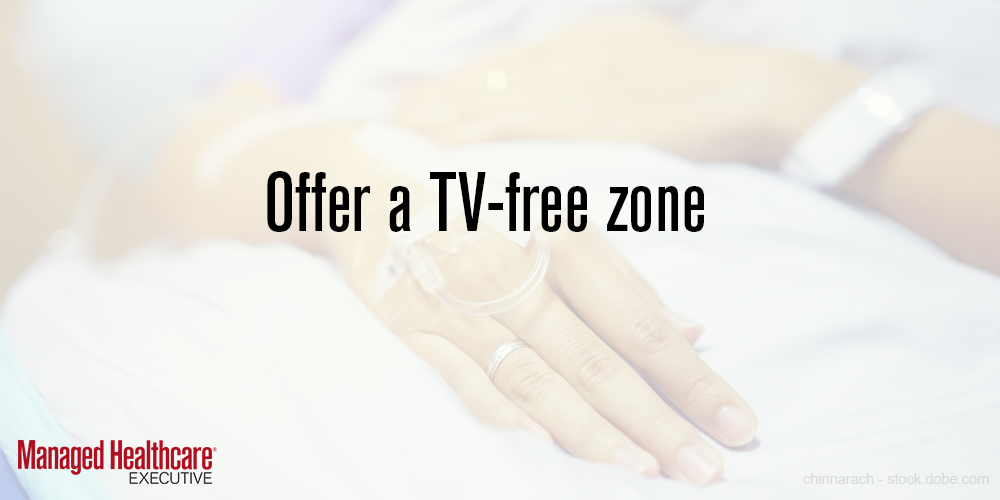 Offer a TV-free zone