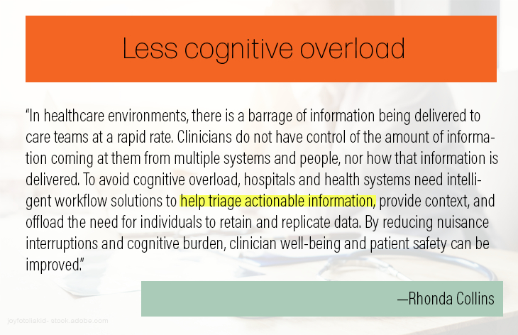 Less cognitive overload