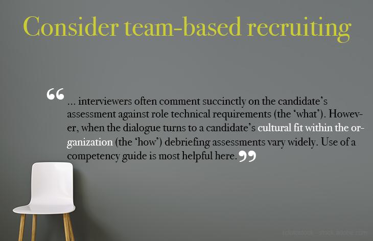 Consider team-based recruiting