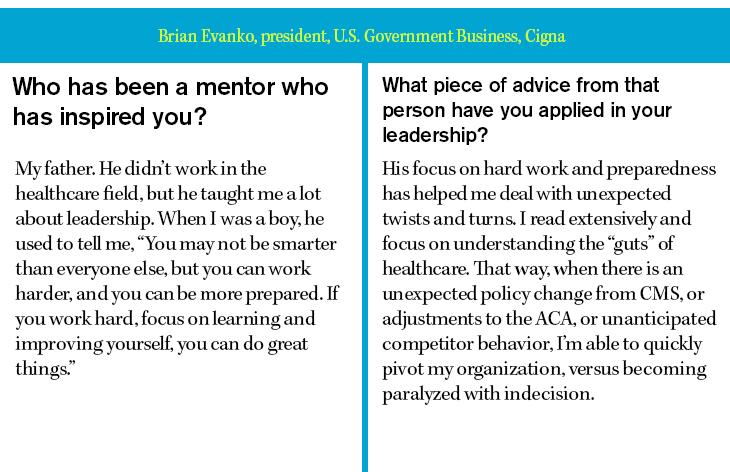 Brian Evanko, president, U.S. Government Business, Cigna
