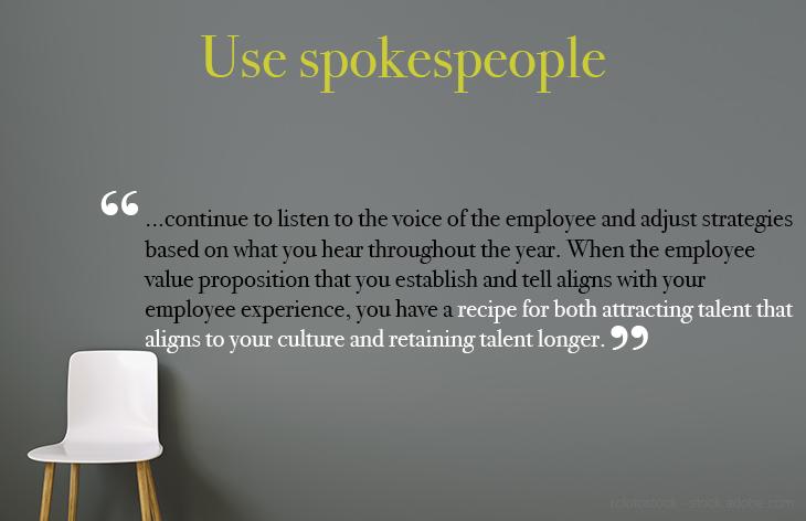Use employee spokespeople