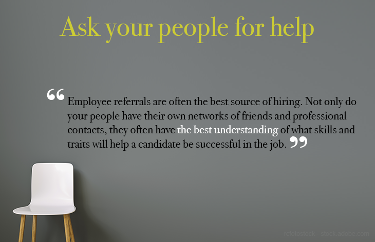 Ask people for help