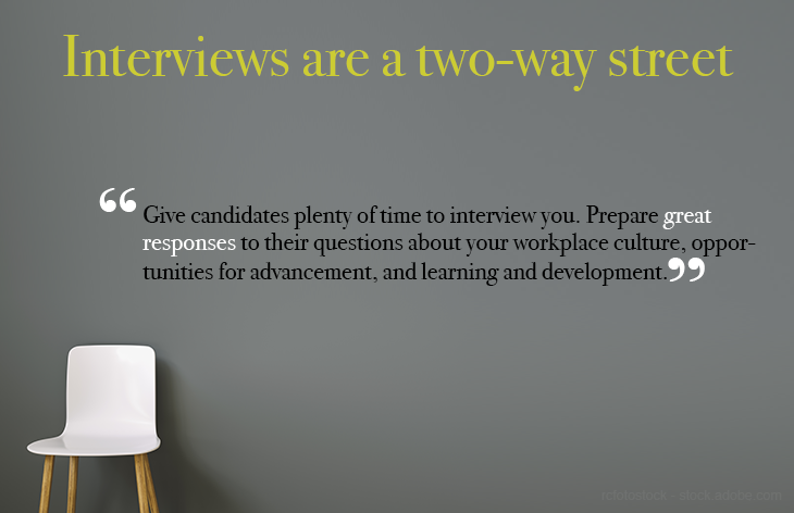 Conduct two-way interviews