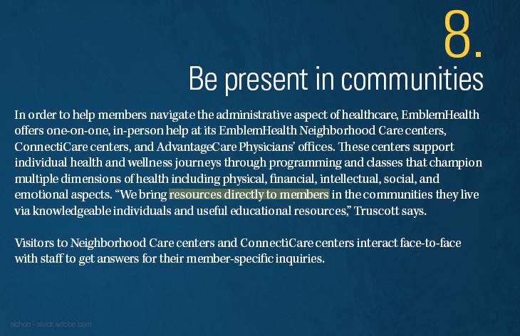 Be present in communities