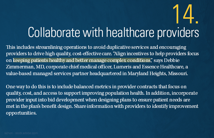 Collaborate with healthcare providers