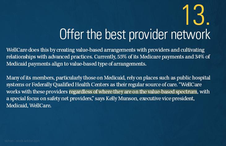 Offer the best provider network