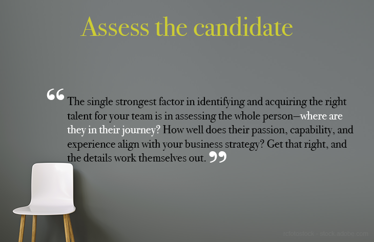 Assess the candidate