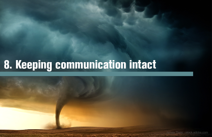8. Keeping communication structures intact