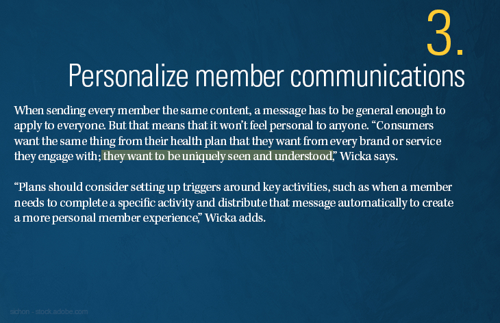 Personalize member communications