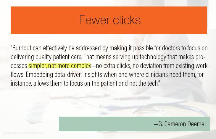Fewer clicks