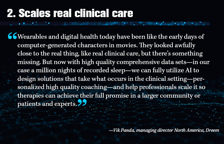 2. Scales real clinical care