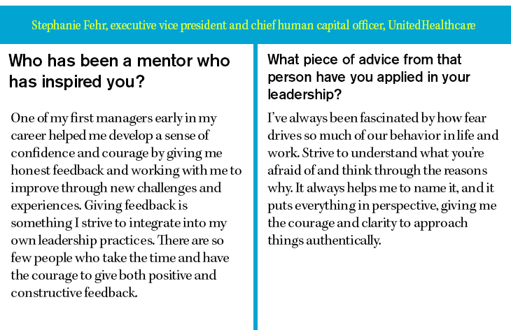 Stephanie Fehr, executive vice president and chief human capital officer, United