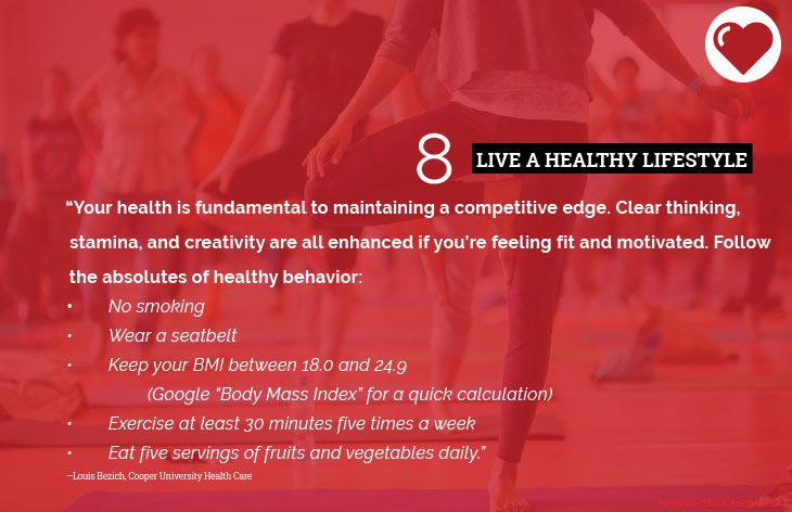 8. Live a healthy lifestyle